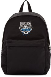 Kenzo Black Nylon Tiger Backpack