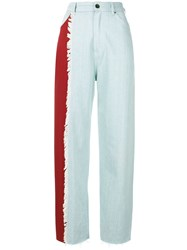 House Of Holland Contrast Mom Jeans Blue