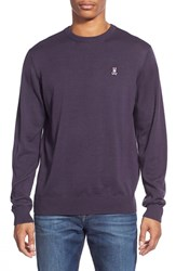Men's Psycho Bunny Pima Cotton Crewneck Sweater Plum