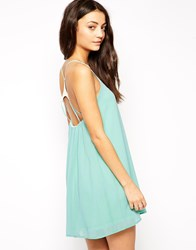 Oh My Love Cami Dress With Gold Bar Back Mint