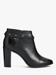 Ted Baker Dottaa Studded Leather Ankle Boots Black