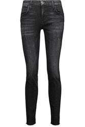 Current Elliott The Ankle Faded Low Rise Skinny Jeans Black