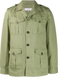 Orlebar Brown Button Military Jacket Green