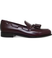 Paul Smith Simmons Leather Tassel Loafers Wine