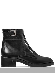 Laurence Dacade 40Mm Solene Leather Lace Up Boots Black