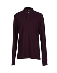Jaggy Polo Shirts Deep Purple