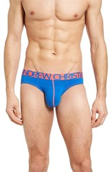Andrew Christian Men's Happy Tagless Briefs Royal