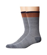 Timberland Rugged Crew 2 Pack Socks Gold Flame Brown Men's Crew Cut Socks Shoes Gray