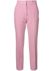 Msgm Straight Leg Trousers Pink And Purple