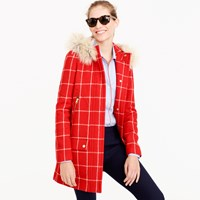 J.Crew Petite Chateau Parka In Windowpane Check