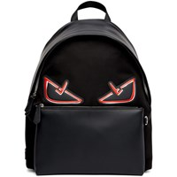 Fendi Black And Red 'Bag Bugs' Backpack