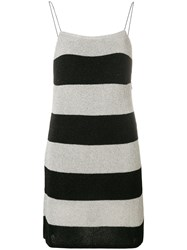 Laneus Striped Knitted Dress Black