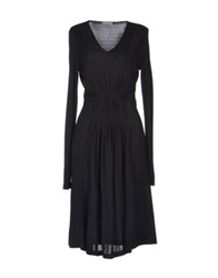 Stefano Mortari Knee Length Dresses Black
