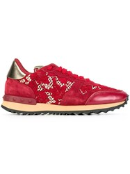 Valentino 'Rockrunner' Sneakers Red