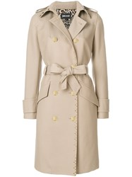 Just Cavalli Double Breasted Trench Coat Brown