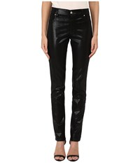 Versace Shiny Skinny Pants Nero Women's Jeans Black