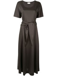 Christophe Lemaire Belted T Shirt Dress Green