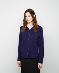 Etoile Isabel Marant Nathan Double Pocket Knit Shirt Midnight