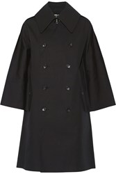 Junya Watanabe Coated Cotton Trench Coat Black