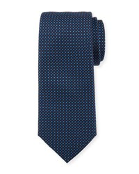 Hugo Boss Neat Silk Tie Navy