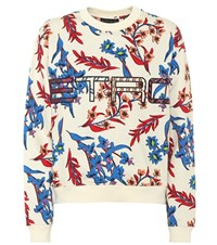 Etro Floral Printed Cotton Sweatshirt Multicoloured