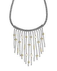 Lagos 18K Gold And Sterling Silver Bib Rope Necklace 16 Silver Gold