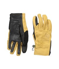 Burton Ak Leather Tech Glove Raw Hide Extreme Cold Weather Gloves Yellow