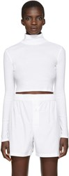 Rosetta Getty White Cropped Turtleneck