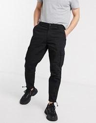 Mennace Cargo Utility Trouser In Black