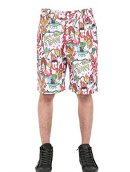 Der Metropol Cartoon Printed Techno Canvas Shorts