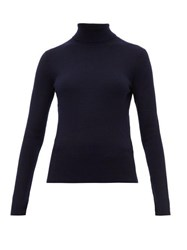 Gabriela Hearst May Wanaka Roll Neck Sweater Navy