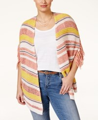 Jessica Simpson Rouge Striped Cardigan Natural Multi
