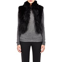 Barneys New York Women's Patchwork Fur Vest Black Blue Black Blue