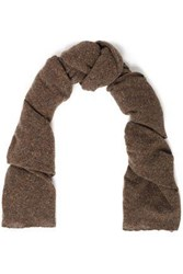 Autumn Cashmere Donegal Scarf Brown