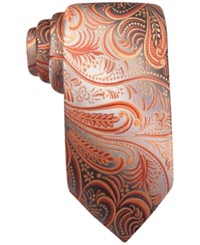 John Ashford Collins Paisley Tie Only At Macy's Orange