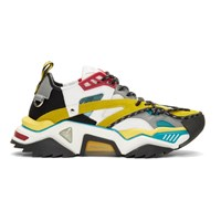 Calvin Klein 205W39nyc Blue And Yellow Strike 205 Sneakers