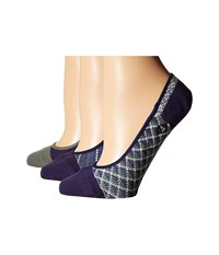 Sperry Micro Skimmer Jacquard Liner 3 Pack Blue Women's No Show Socks Shoes