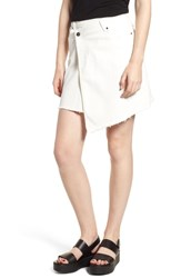 Evidnt Asymmetrical Denim Skirt White