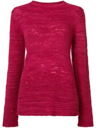 The Elder Statesman Picasso Jumper Women Cashmere Xs Pink Purple