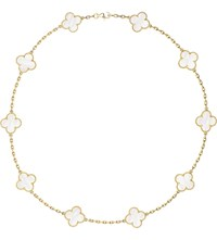 Van Cleef And Arpels Vintage Alhambra Gold Mother Of Pearl Necklace Yellow Gold