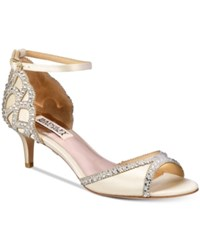 Badgley Mischka Gillian Peep Toe D'orsay Pumps Women's Shoes Ivory