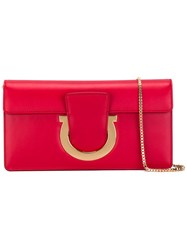 Salvatore Ferragamo Thalia Clutch Red