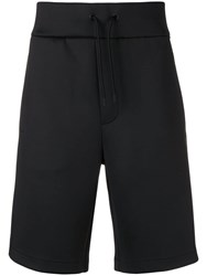 Emporio Armani Structured Snap Button Shorts Black