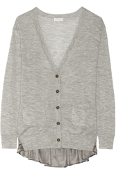Clu Lace And Satin Trimmed Cashmere Cardigan