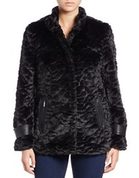Bagatelle Faux Fur Coat Black