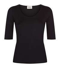 Armani Collezioni Half Sleeve T Shirt Female Black