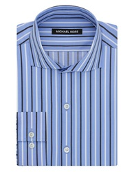 Michael Kors Striped Nantucket Cutaway Dress Shirt Empire Blue