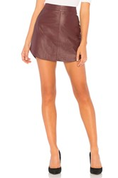 Bb Dakota Conrad Leather Skirt Burgundy