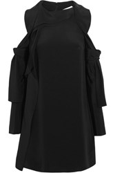 3.1 Phillip Lim Cutout Silk Satin Mini Dress Black