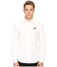 Mcq By Alexander Mcqueen Harness Shirt Optic White Men's Long Sleeve Button Up